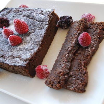 Banansjokolade kake uten gluten og sukker.