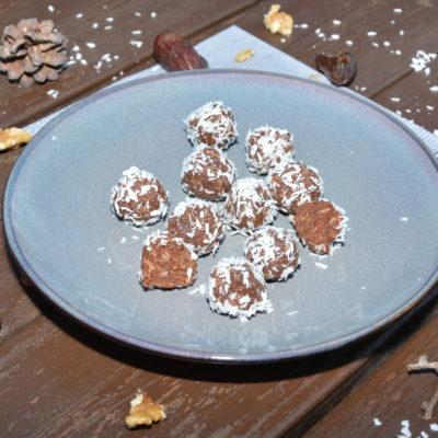 Sjokolade kuler med valnøtt