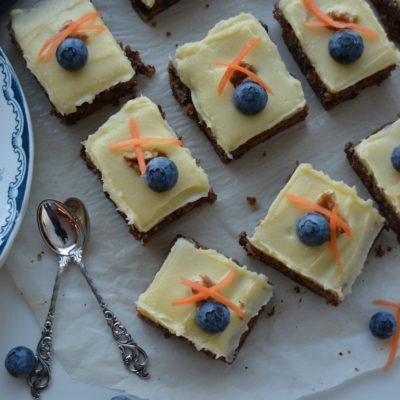 Gulrotkake med smak av appelsin og ingefær