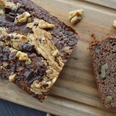 Sjokolade peanøttsmør banan brød